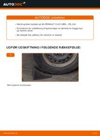 Hvordan man udfører udskiftning af: Hjulleje på 1.2 Renault Clio 2