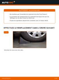 Comment effectuer un remplacement de Roulement De Roues sur 1.4 TDCi Ford Fiesta V jh jd