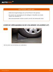 Vervanging uitvoeren: Wiellager 1.4 TDCi Ford Fiesta V jh jd