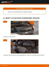 Hogyan végezze a cserét: 1.2 (F08, F68) Opel Corsa C Hosszbordás szíj