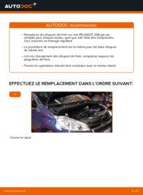 Comment effectuer un remplacement de Disques De Frein sur 1.4 HDi Peugeot 208 1