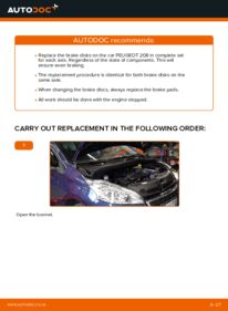 How to carry out replacement: Brake Discs on 1.4 HDi Peugeot 208 1