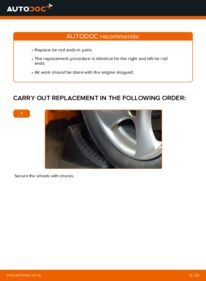 How to carry out replacement: Track Rod End on 1.6 16V Peugeot 206 cc 2d