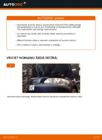 Kā veikt nomaiņu: 2.4 Volvo V70 SW Bremžu diski