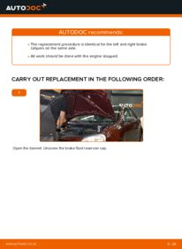 How to carry out replacement: Brake Calipers on 1.4 16V Polo 9n