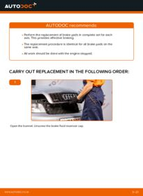 How to carry out replacement: Brake Pads on 1.9 TDI Audi A4 b6