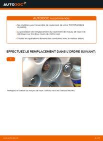Comment effectuer un remplacement de Roulement De Roues sur 2.2 D 4WD (ALA30_) Toyota RAV4 III