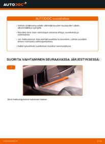 Kuinka vaihtaa Raitisilmasuodatin 2.4 Volvo V70 SW -autoon
