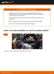 How to carry out replacement: Brake Discs on 1.9 dCi Renault Scenic 2