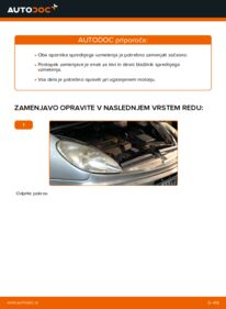 Kako izvesti menjavo: Blazilnik na 2.0 HDi Citroen Xsara Picasso