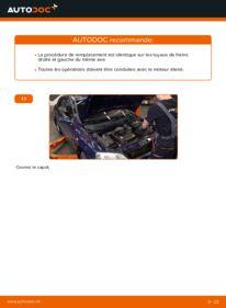 Comment effectuer un remplacement de Flexible De Frein sur 1.6 16V (F08, F48) Opel Astra g f48