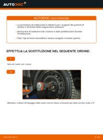 Come effettuare una sostituzione di Supporto Ammortizzatore su 1.2 60 Fiat Punto 188