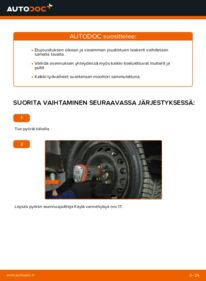 Kuinka vaihtaa Jousijalan Tukilaakeri 1.2 60 Fiat Punto 188 -autoon