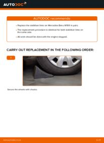 How to carry out replacement: Anti Roll Bar Links on A 180 CDI 2.0 (169.007, 169.307) Mercedes W169