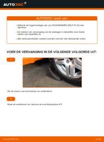 Vervangen: Wiellager 1.4 16V Golf 4