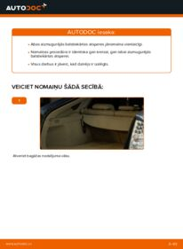 Kā veikt nomaiņu: 1.5 (NHW2_) Toyota Prius 2 Piekare