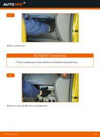 Como realizar a substituição de Filtro do Habitáculo no 1.0 (SCP10_) Toyota Yaris p1