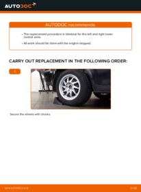How to carry out replacement: Control Arm on 1.6 TDCi Ford Focus mk2 Saloon