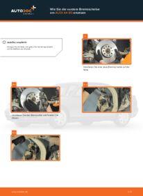 Wie der Wechsel durchführt wird: Bremsscheiben Audi A4 B5 Limousine 1.6 1.9 TDI 1.8 tauschen