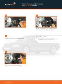 Wie der Wechsel durchführt wird: Bremsbeläge Audi A4 B5 1.6 1.9 TDI 1.8 tauschen