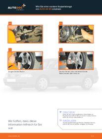 Wie der Wechsel durchführt wird: Koppelstange Audi A4 B5 Limousine 1.6 1.9 TDI 1.8 tauschen
