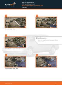 Wie der Wechsel durchführt wird: Federn Mercedes W202 C 180 1.8 (202.018) C 250 2.5 Turbo Diesel (202.128) C 220 D 2.2 (202.121) tauschen