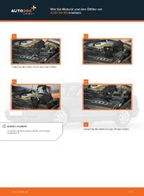 Wie der Wechsel durchführt wird: Ölfilter Audi A4 B5 Limousine 1.6 1.9 TDI 1.8 tauschen