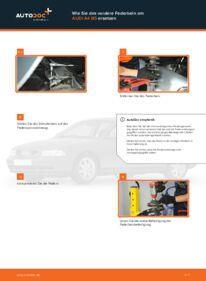 Wie der Wechsel durchführt wird: Domlager Audi A4 B5 1.6 1.9 TDI 1.8 tauschen