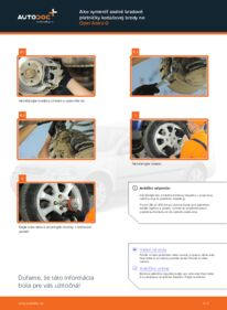 Ako vykonať výmenu: Brzdové Platničky na 1.6 16V (F08, F48) Opel Astra g f48