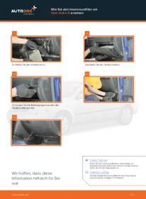 Wie der Wechsel durchführt wird: Innenraumfilter Opel Astra g f48 1.6 16V (F08, F48) 1.6 (F08, F48) 1.4 16V (F08, F48) tauschen