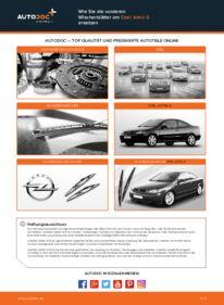 Wie der Wechsel durchführt wird: Scheibenwischer Opel Astra g f48 1.6 16V (F08, F48) 1.6 (F08, F48) 1.4 16V (F08, F48) tauschen