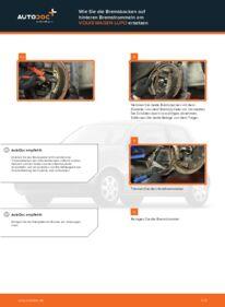 Wie der Wechsel durchführt wird: Bremsbacken 1.2 TDI 3L VW Lupo 6x1 tauschen
