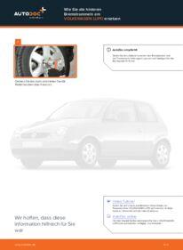 Wie der Wechsel durchführt wird: Bremstrommel 1.2 TDI 3L VW Lupo 6x1 tauschen