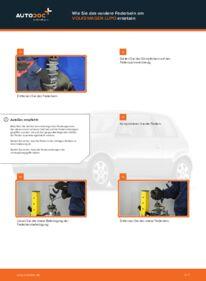 Wie der Wechsel durchführt wird: Domlager VW Lupo 6x1 1.2 TDI 3L 1.0 1.4 tauschen