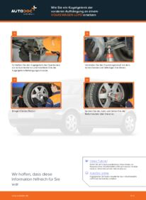 Wie der Wechsel durchführt wird: Traggelenk VW Lupo 6x1 1.2 TDI 3L 1.0 1.4 tauschen