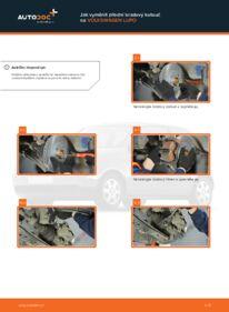 Jak provést výměnu: Brzdovy kotouc na 1.2 TDI 3L VW Lupo 6x1