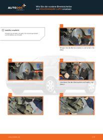 Wie der Wechsel durchführt wird: Bremsscheiben 1.2 TDI 3L VW Lupo 6x1 tauschen