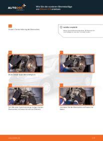 Wie der Wechsel durchführt wird: Bremsbeläge 1.4 HDi CITROËN C3 I (FC_) tauschen