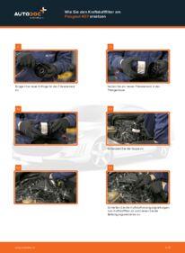 Wie der Wechsel ausgeführt wird: Kraftstofffilter beim 2.0 HDi 135 Peugeot 407 Limousine