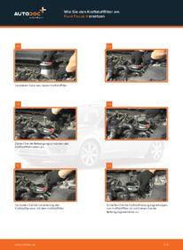 Wie der Wechsel durchführt wird: Kraftstofffilter Ford Focus 2 da 1.6 TDCi 1.6 1.8 Flexifuel tauschen