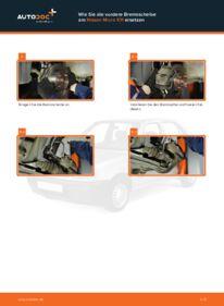 Wie der Wechsel durchführt wird: Bremsscheiben Nissan Micra k11 1.0 i 16V 1.3 i 16V 1.4 i 16V tauschen