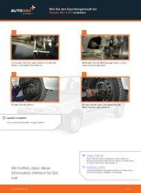 Wie der Wechsel durchführt wird: Spurstangenkopf Nissan Micra k11 1.0 i 16V 1.3 i 16V 1.4 i 16V tauschen