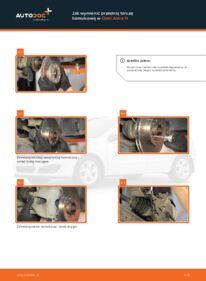 Jak przeprowadzić wymianę: Tarcza hamulcowa w 1.7 CDTI (L48) Opel Astra h l48