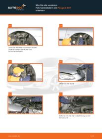 Wie der Wechsel durchführt wird: Federn Peugeot 407 Limousine 2.0 HDi 135 1.6 HDi 110 2.0 tauschen