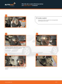 Wie der Wechsel durchführt wird: Bremsscheiben Opel Astra h l48 1.7 CDTI (L48) 1.6 (L48) 1.4 (L48) tauschen