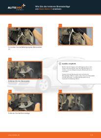 Wie der Wechsel durchführt wird: Bremsbeläge Opel Astra h l48 1.7 CDTI (L48) 1.6 (L48) 1.4 (L48) tauschen