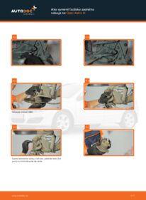 Ako vykonať výmenu: Lozisko kolesa na 1.7 CDTI (L48) Opel Astra h l48