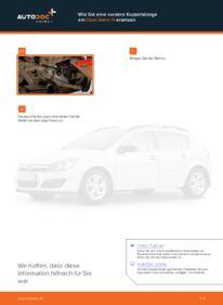 Wie der Wechsel durchführt wird: Koppelstange Opel Astra h l48 1.7 CDTI (L48) 1.6 (L48) 1.4 (L48) tauschen