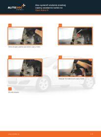 Ako vykonať výmenu: Horné Uloženie Tlmiča na 1.7 CDTI (L48) Opel Astra h l48
