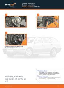 Wie der Wechsel durchführt wird: Bremstrommel Skoda Octavia 1u 1.9 TDI 1.6 RS 1.8 T tauschen